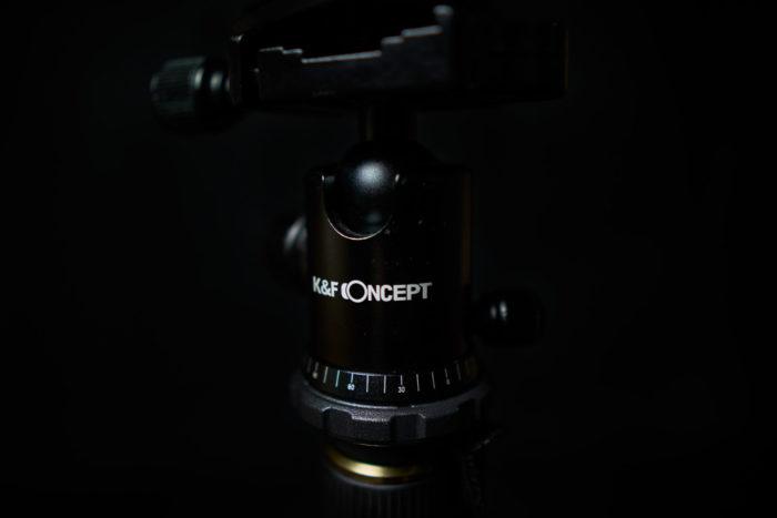 K&F Concept Stativ - Winkelskala am gedämpften Kugelkopf